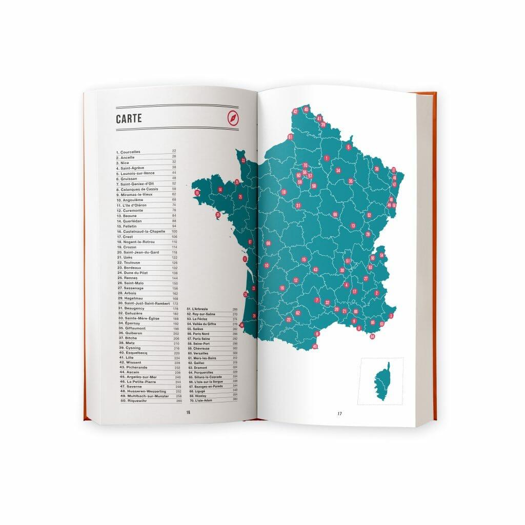 carte des randos bière en France
